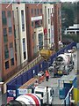 SU8760 : Lowering the cement hopper, construction of Pembroke House, Camberley by Rich Tea