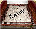SO0561 : Shop entrance mosaic floor, Llandrindod Wells by Julian Osley