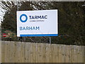 TM1251 : Tarmac Barham sign by Adrian Cable