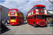 TQ1979 : A pair of Routemasters by Ian Taylor