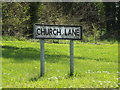 TM1250 : Church Lane sign by Adrian Cable