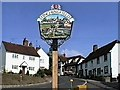 TL6832 : Finchingfield village sign by Oxfordian Kissuth