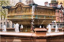 SJ8398 : Queen Victoria Jubilee Statue (Middle Basin Detail) by David Dixon
