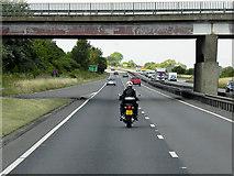 SK7964 : Ossington Road Bridge over the A1 at Carlton-on-Trent by David Dixon