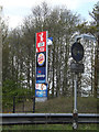 TM1054 : Little Chef, Burger King & Travelodge signs by Adrian Cable