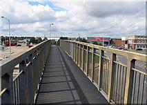 TQ0975 : Across footbridge on Hatton Road South by Andrew Tatlow