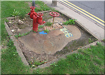 TQ0975 : Fire hydrant outside Speedy Hire by Andrew Tatlow