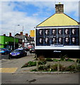 ST1479 : Game of Thrones advert on a Llandaff North side wall, Cardiff by Jaggery