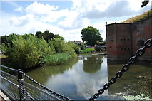 SU5902 : Moat around Fort Brockhurst (7) by Barry Shimmon