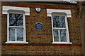 TQ3669 : Plaque on the childhood home of Enid Blyton, Chaffinch Road, Beckenham by Christopher Hilton