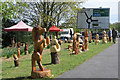 SP9311 : Wood Carvings by the London Road, Tring by Chris Reynolds