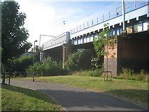NS5566 : Railway bridge over the River Kelvin by Jonathan Thacker