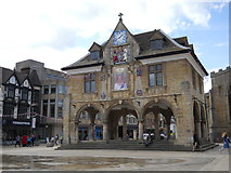 TL1998 : The Guildhall, Peterborough, celebrates The Queen's 90th. birthday by Paul Bryan