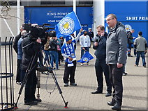 SK5802 : News crew outside the King Power Stadium by Mat Fascione