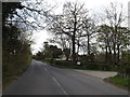 TM1852 : B1077 Ashbocking Road & Byway by Adrian Cable