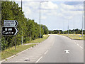 TF1244 : Heckington Bypass, Turnoff for the Village by David Dixon