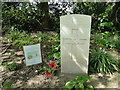 TF9308 : Headstone of James Edward Fawkes, RFA by Adrian S Pye