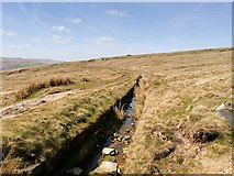 SD9617 : Pennine Way, Broad Head Drain by David Dixon