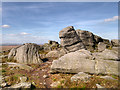 SD9716 : Large Boulders along the Pennine Way at Blackstone Edge by David Dixon