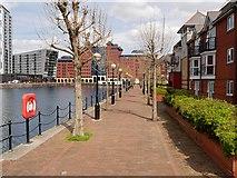 SJ8097 : Erie Basin, Salford Quays by David Dixon