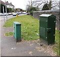ST2987 : Three shades of green, Bassaleg Road, Newport by Jaggery