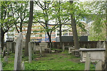 TQ3282 : View of graves in Bunhill Fields #3 by Robert Lamb