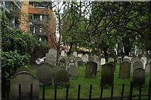 TQ3282 : View of graves in Bunhill Fields #15 by Robert Lamb