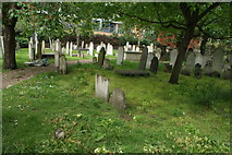 TQ3282 : View of graves in Bunhill Fields #18 by Robert Lamb