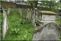 TQ3282 : View of graves in Bunhill Fields #20 by Robert Lamb
