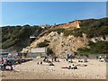 SZ0990 : Bournemouth: aftermath of a cliff fall by Chris Downer