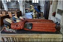 SK3463 : Ashover: All Saints Church: The Babington tomb 1 by Michael Garlick