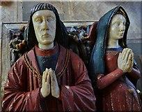 SK3463 : Ashover: All Saints Church: The Babington tomb 2 by Michael Garlick