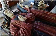 SK3463 : Ashover: All Saints Church: The Babington tomb 3 by Michael Garlick