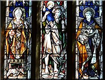 SK3463 : Ashover: All Saints Church: Stained glass window 4 by Michael Garlick