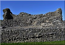 SK1482 : Peveril Castle, Castleton: The north curtain wall by Michael Garlick