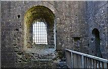 SK1482 : Peveril Castle, Castleton: Henry II's keep (1170) interior detail by Michael Garlick