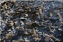 SK1482 : Peveril Castle, Castleton: Henry II's keep (1170), construction detail by Michael Garlick