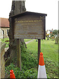 TM1551 : St.Peter's Church sign by Geographer