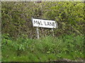 TM1451 : Mill Lane sign by Adrian Cable