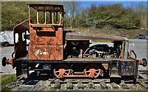 SK2855 : The National Stone Centre: Locomotive RS8 once used at Tunstead Quarry nr Buxton by Michael Garlick