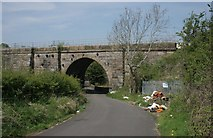 NS5160 : Fly tipping beside Salterland Viaduct by Richard Sutcliffe