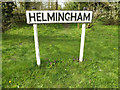 TM1857 : Helmingham Village Name sign on Helmingham Road by Adrian Cable