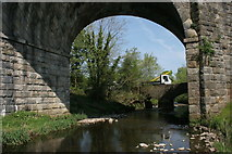 NS5160 : Bridge and viaduct over the Levern Water by Richard Sutcliffe