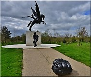 SK1814 : National Memorial Arboretum: The Parachute Regiment and Airborne Forces 1 by Michael Garlick