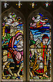 TF1681 : Stained glass window, St Mary's church, East Barkwith by Julian P Guffogg