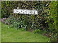 TM1852 : Church Lane sign by Adrian Cable