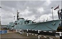 TQ7569 : The Historic Dockyard, Chatham: WWII destroyer HMS Cavalier (1944) by Michael Garlick