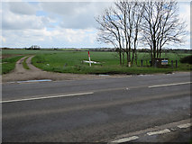 TF9708 : Gas line marker by Dereham Road by Hugh Venables