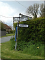 TM1852 : Roadsign on Low Road by Adrian Cable