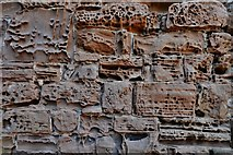 SP2772 : Kenilworth Castle: Badly weathered stone in the Strong Tower by Michael Garlick